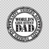 Happy Father's Day Greatest Dad 23197